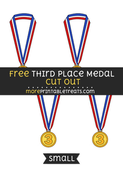 Free Third Place Medal Cut Out - Small Size Printable