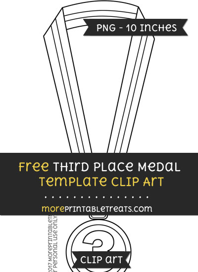 Free Third Place Medal Template - Clipart