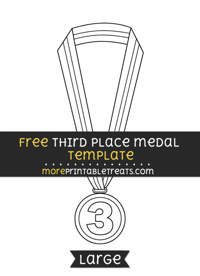 Free Third Place Medal Template - Large