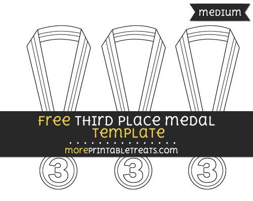 Free Third Place Medal Template - Medium