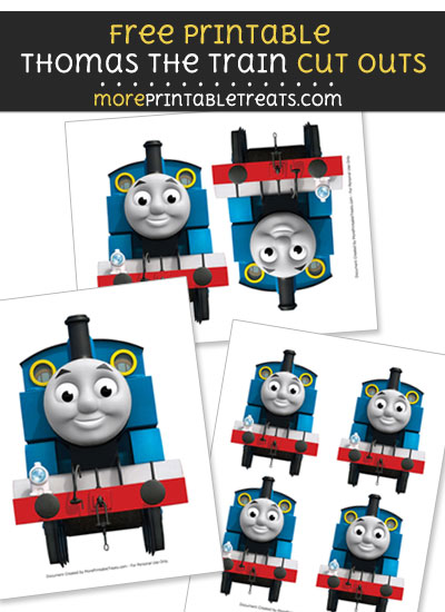 Free Thomas the Train Smiling Cut Outs - Printable - Thomas the Train and Friends