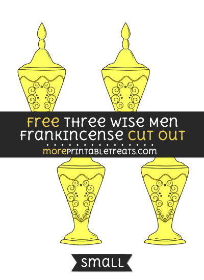 Free Three Wise Men Frankincense Cut Out - Small Size Printable