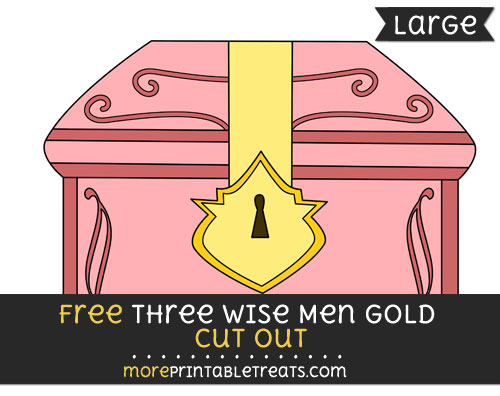 Free Three Wise Men Gold Cut Out - Large size printable
