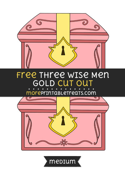 Free Three Wise Men Gold Cut Out - Medium Size Printable