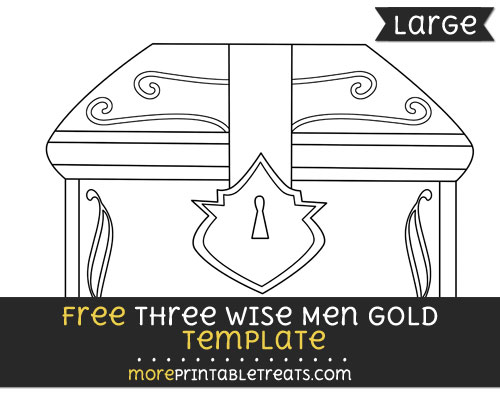 Free Three Wise Men Gold Template - Large