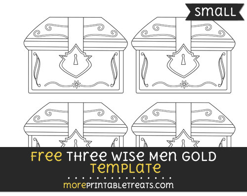 Free Three Wise Men Gold Template - Small