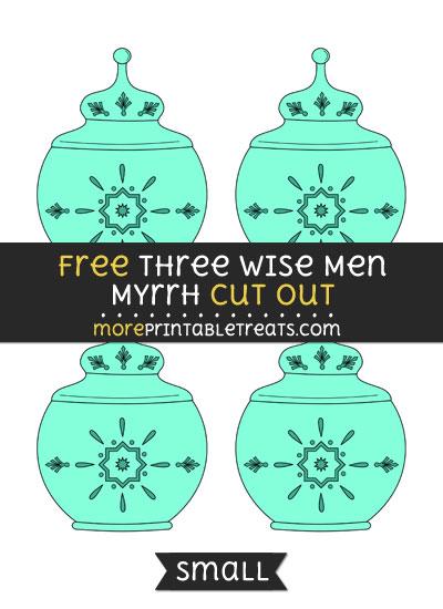 Free Three Wise Men Myrrh Cut Out - Small Size Printable