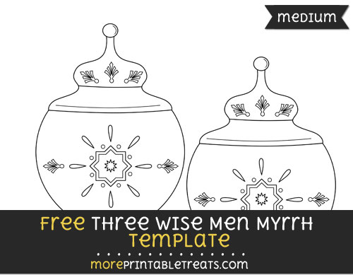 Free Three Wise Men Myrrh Template - Medium