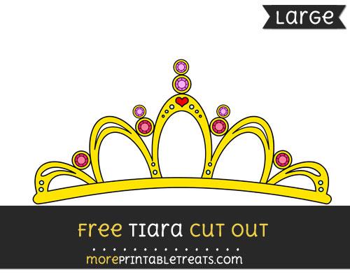 Free Tiara Cut Out - Large size printable