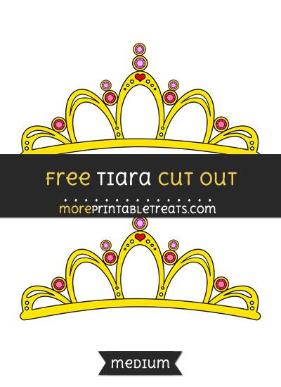 Free Tiara Cut Out - Medium Size Printable