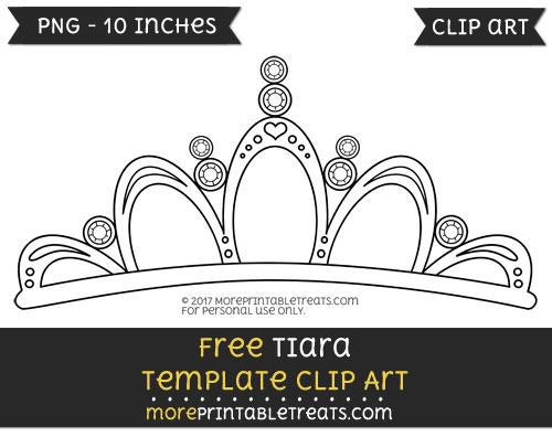 Free Tiara Template - Clipart