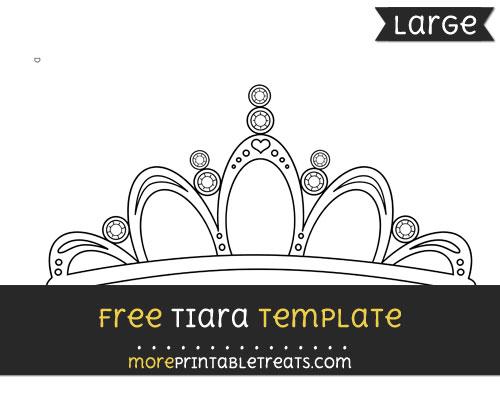 Free Tiara Template - Large