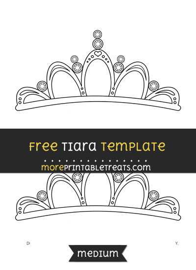 Free Tiara Template - Medium