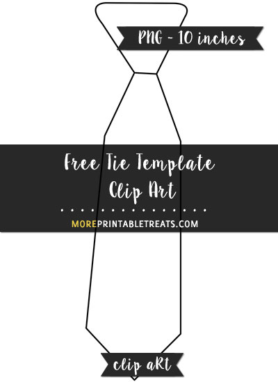 Free Tie Template - Clipart