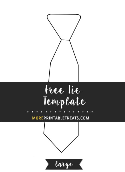 Free Tie Template - Large