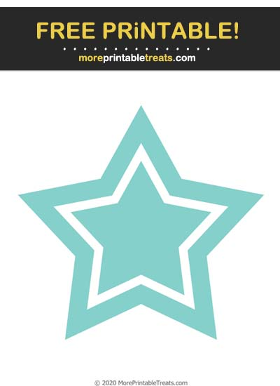Free Printable Tiff Blue Double Star Cut Out