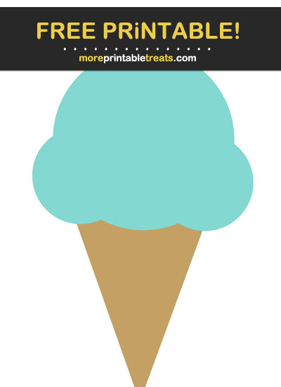 Free Printable Tiff Blue Ice Cream Cone Cut Out
