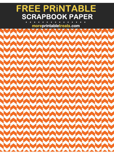 Free Printable Tiger Orange Herringbone Scrapbook Paper