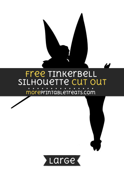 Free Tinkerbell Silhouette Cut Out - Large size printable