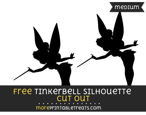 Free Tinkerbell Silhouette Cut Out - Medium Size Printable