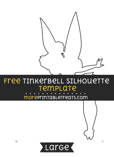 Free Tinkerbell Silhouette Template - Large
