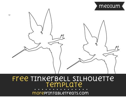 Free Tinkerbell Silhouette Template - Medium