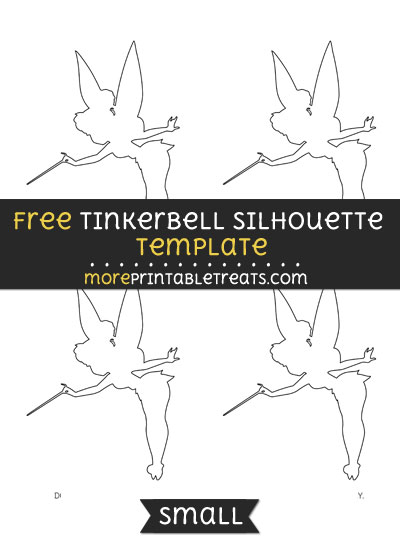 Free Tinkerbell Silhouette Template - Small