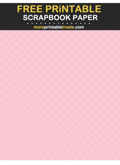 Free Printable Tinted Blush Dotted Trellis Scrapbook Paper