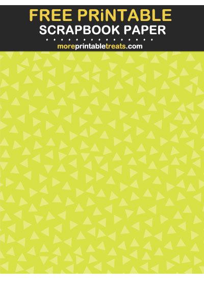Free Printable Tinted Bright Green Triangle Confetti Scrapbook Paper