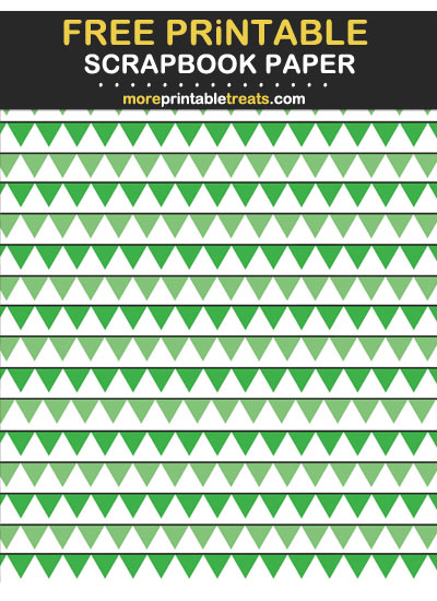 Free Printable Tinted Green Pennant Flags Scrapbook Paper