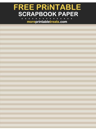 Free Printable Tinted Khaki Horizontal Stripes Scrapbook Paper