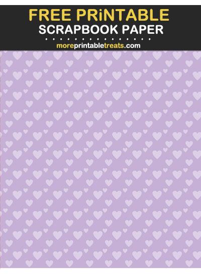 Free Printable Tinted Lavender Diagonal Hearts Scrapbook Paper
