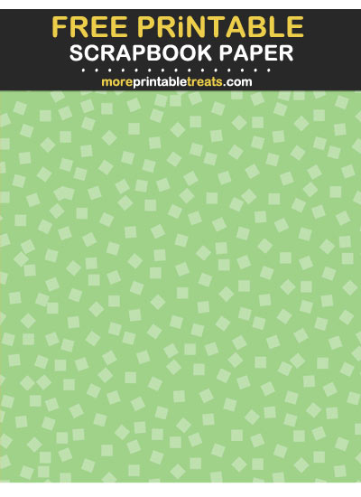 Free Printable Tinted Melon Green Square Confetti Scrapbook Paper