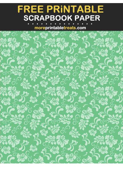 Free Printable Tinted Seafoam Green Hawaiian Scrapbook Paper