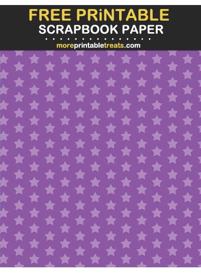 Free Printable Tinted Violet Stars Scrapbook Paper