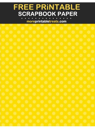 Free Printable Tinted Yellow Polka Dot Scrapbook Paper