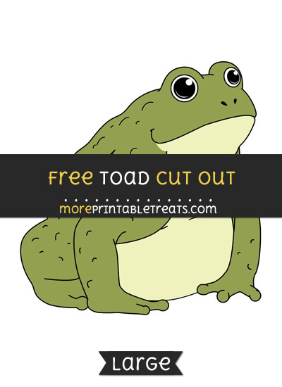 Free Toad Cut Out - Large size printable