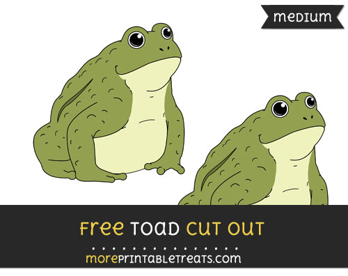 Free Toad Cut Out - Medium Size Printable