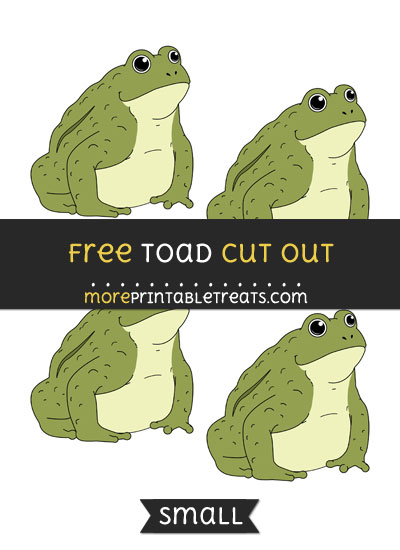 Free Toad Cut Out - Small Size Printable
