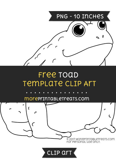 Free Toad Template - Clipart