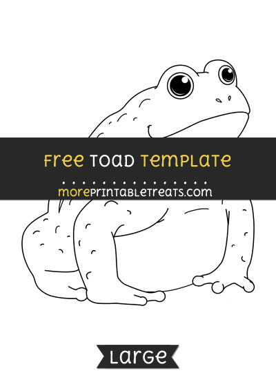 Free Toad Template - Large