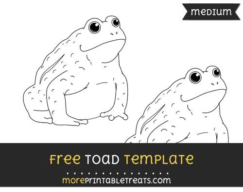 Free Toad Template - Medium