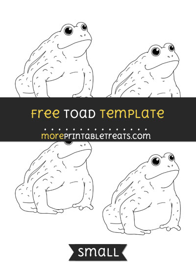 Free Toad Template - Small