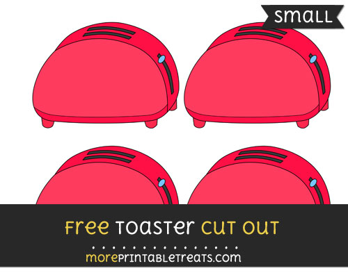 Free Toaster Cut Out - Small Size Printable