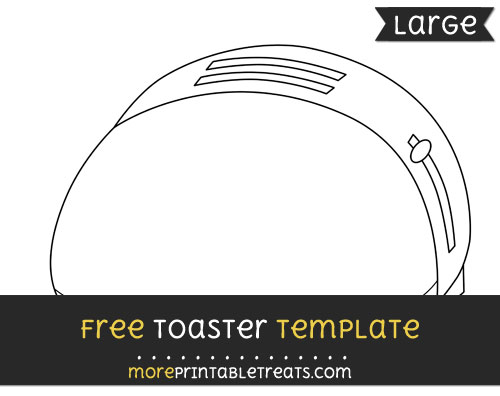 Free Toaster Template - Large