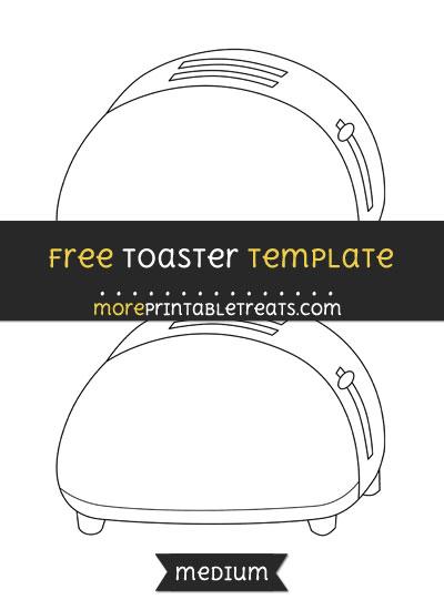 Free Toaster Template - Medium