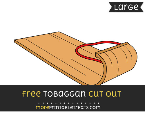 Free Tobaggan Cut Out - Large size printable