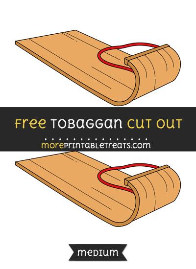 Free Tobaggan Cut Out - Medium Size Printable