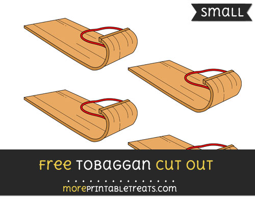 Free Tobaggan Cut Out - Small Size Printable