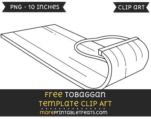 Free Tobaggan Template - Clipart